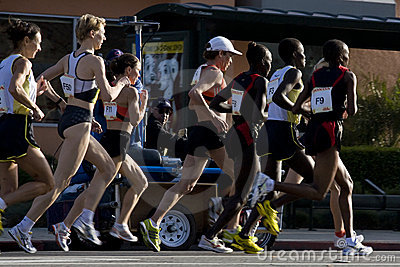 LA Marathon Pro Women Editorial Stock Image