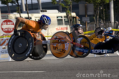 LA Marathon - wheelchair Editorial Image