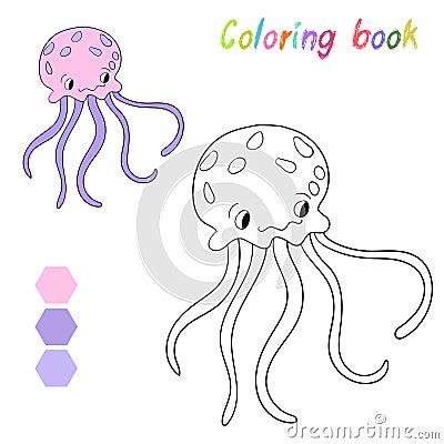 La medusa del libro da colorare scherza la disposizione for Medusa da colorare