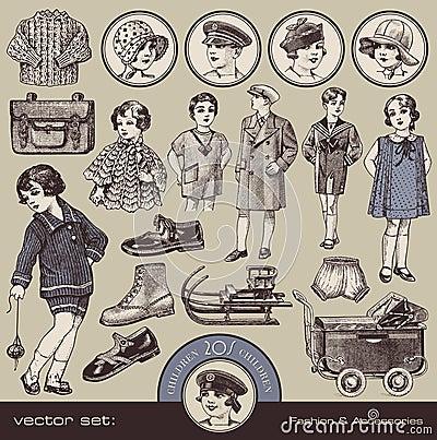 La mode, les accessoires et les jouets des enfants