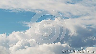 La mosca attraverso le nuvole dell'estate vola dal lato archivi video