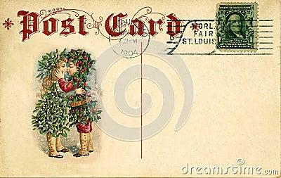 La Navidad Antigua De La Postal