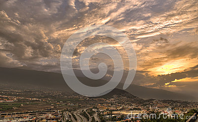 La Orotava valley Editorial Stock Photo