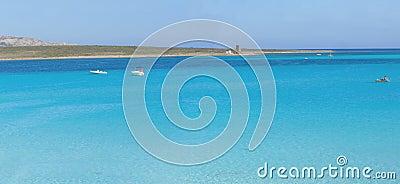 La Pelosa beach panorama, Sardinia, Italy