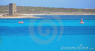 La Pelosa Beach in Sardinia - Italy