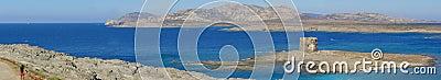 La Pelosa beach in Sardinia, Italy - panorama
