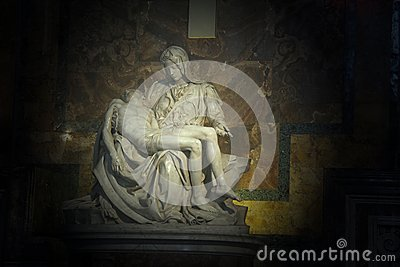 La Pieta in Saint Peter Basilica Editorial Stock Photo