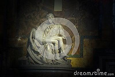 La Pieta in Saint Peter Basilica Editorial Stock Photo