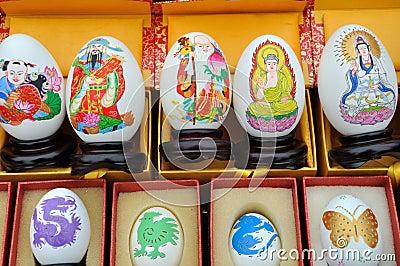 La pittura dell uovo sulla varia coltura visualizza