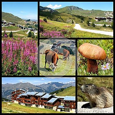 La Plagne in the French Alps