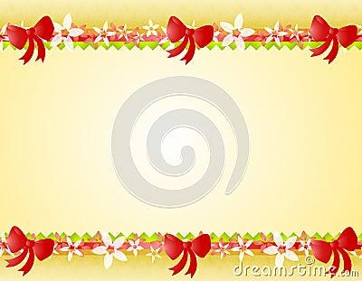 La poinsettia de Noël cintre le cadre