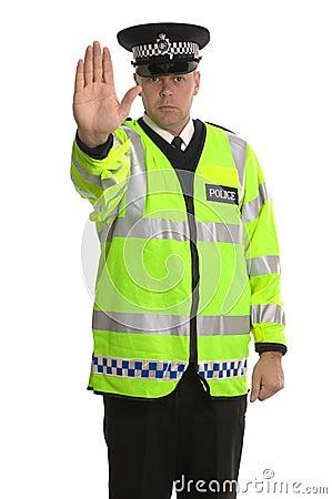 La policía trafica la parada