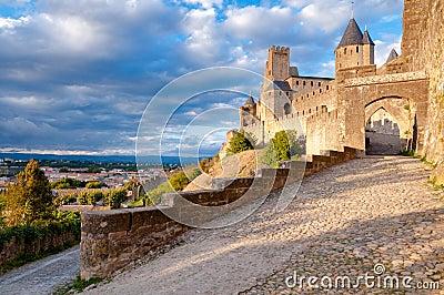 La Porte De Aude entrance at Carcassonne