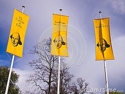 La publicité des pièces de Shakespeare Photo stock éditorial