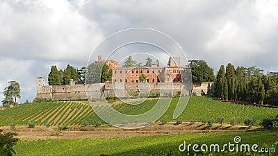 La région du Chianti et le château de Brolio clips vidéos
