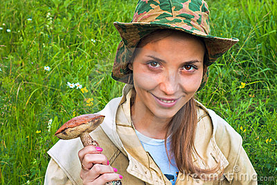 La ragazza con il fungo.