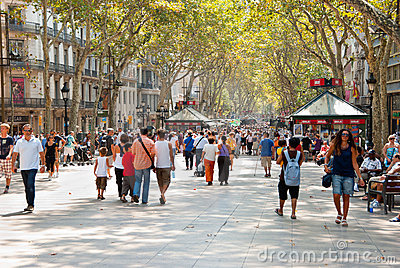 La Rambla Editorial Stock Photo