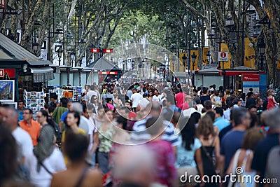 La Rambla, Barcelona Redactionele Foto