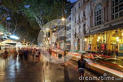 La Rambla, Barcelona, Spain Editorial Stock Photo
