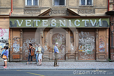 La repubblica Ceca: Turismo di Praga Immagine Editoriale