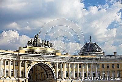 La Russie, St Petersburg, grand dos de palais