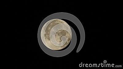 La súper luna de la mañana del 5 de diciembre parece más grande y más brillante que cualquier luna en 2017 almacen de metraje de vídeo