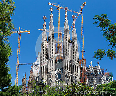 La Sagrada Famila Church Barcelona Spain