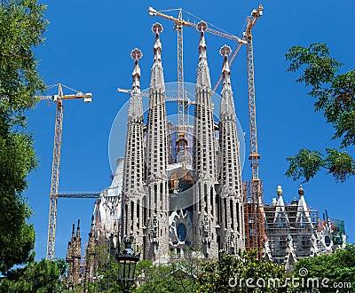 La Sagrada Famila Church Barcelona Spain