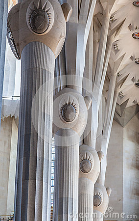 La Sagrada Famila Church Barcelona Spain Editorial Stock Image