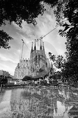 La Sagrada Familia in Barcelona Editorial Stock Photo