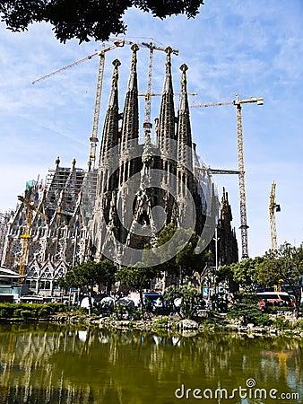 La Sagrada Familia (Barcelona) in Spain