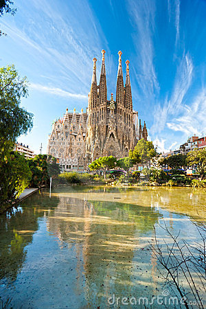 Free La Sagrada Familia, Barcelona, Spain. Stock Photos - 23376373