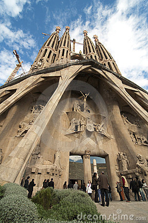 La Sagrada Familia, Barcelona, Spain Editorial Photo