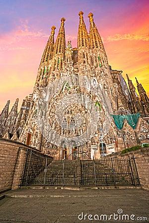 Free La Sagrada Familia, Barcelona, Spain. Royalty Free Stock Image - 27542896