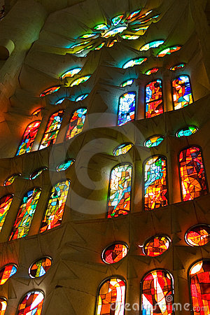 La Sagrada Familia Interior window