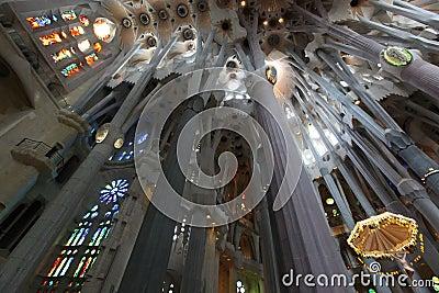 La Sagrada Familia, the unrealistic cathedral designed by Gaudi