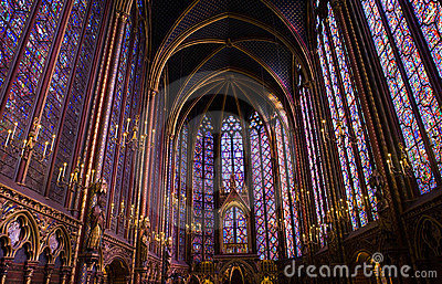 La Sainte-Chapelle Chapel Stained Glass Windows