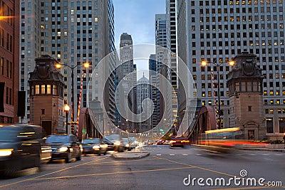 La Salle Street of Chicago.