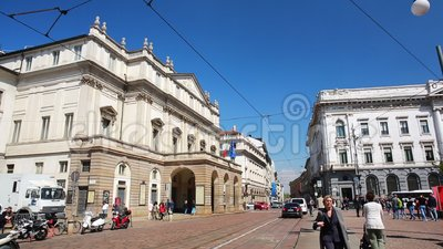 La Scala von Mailand stock video footage