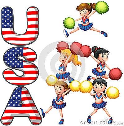 La squadra incoraggiante di U.S.A.