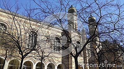 La synagogue de Tabakgasse de synagogue de rue de Dohany est la plus grande synagogue en Europe Budapest, Hongrie banque de vidéos