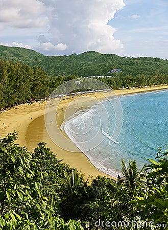 La Tailandia, Phuket, spiaggia di Kamala