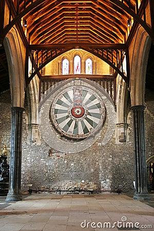 La tavola rotonda di re art sulla parete del tempio in winchester inghilterra u fotografia - La tavola rotonda di re artu ...