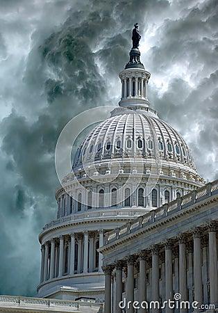 La tempête descend sur Capitol Hill