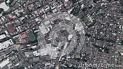 La terra zumma lo zoom verso l'esterno San Salvador El Salvador video d archivio