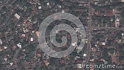 La terra zumma lo zoom verso l'esterno Sri Jayawardenepura Kotte Sri Lanka archivi video
