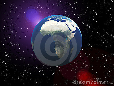 La tierra en espacio