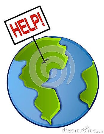 La tierra salva el arte de clip del planeta