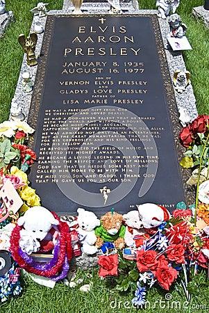 La tombe d Elvis Presley, Graceland, TN Photographie éditorial