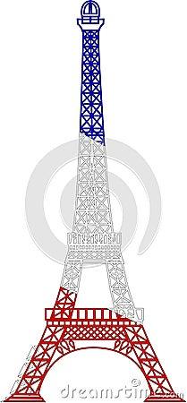 La torre Eiffel del vector